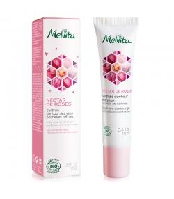 Frisches BIO-Gel Augenkontur, Tränensäcke & Augenringe Rose - 15ml - Melvita Nectar de Roses