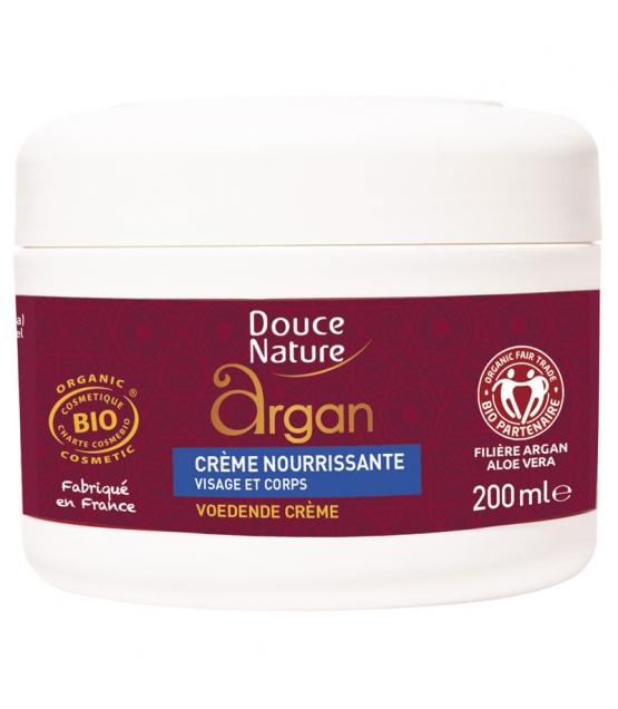 Crème nourissante visage & corps BIO huile d'argan & karité - 200ml - Douce Nature