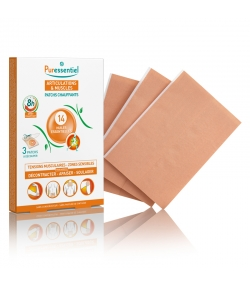 Patchs chauffants articulations & muscles 14 huiles essentielles - 3 pièces - Puressentiel