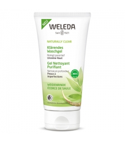Gel nettoyant purifiant BIO écorce de saule - 100ml - Weleda Naturally Clear