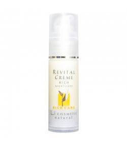 Crème de nuit riche revitalisante naturelle argan & vitamine E - 30ml - Li cosmetic Rich Care