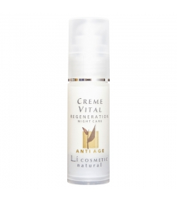 Crème de nuit régénérante anti-âge naturelle argan & vitamine E - 30ml - Li cosmetic Anti Age
