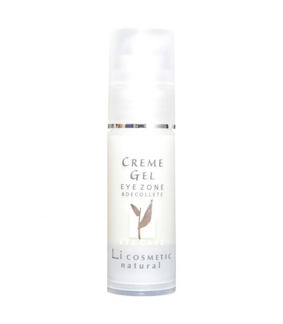 Crème-gel légère contour des yeux naturel germe de blé & vitamine E - 30ml - Li cosmetic Eye Care
