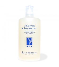 Gel douche & shampooing homme naturel avoine - 200ml - Li cosmetic Men