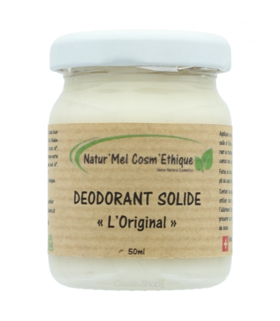 Déodorant baume L'Original naturel palmarosa, lavande & tea tree - 50ml - Natur'Mel Cosm'Ethique