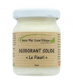 Natürlicher Deobalsam Le Fleuri Palmarosa, Lavandin & Geranium - 50ml - Natur'Mel Cosm'Ethique
