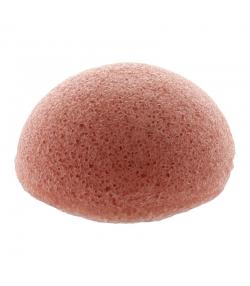 Éponge Konjac visage naturelle argile rouge - 1 pièce - Natur'Mel Cosm'Ethique