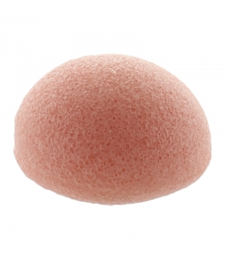 Éponge Konjac visage naturelle argile rose - 1 pièce - Natur'Mel Cosm'Ethique