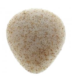 Éponge Konjac visage naturelle coques de noix - 1 pièce - Natur'Mel Cosm'Ethique