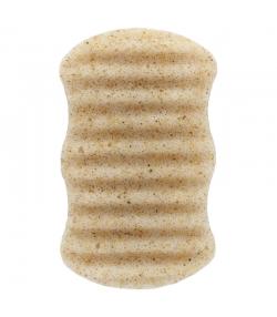 Éponge Konjac corps naturelle coques de noix - 1 pièce - Natur'Mel Cosm'Ethique