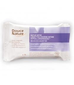 Lingettes d'hygiène intime BIO mélisse & bleuet - 15 lingettes - Douce Nature