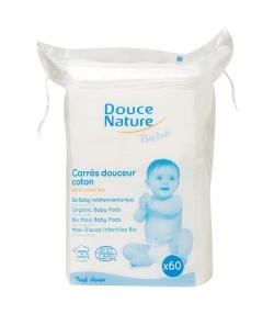 Carrés maxi bébé en coton BIO - 60 carrés - Douce Nature