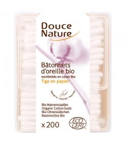 BIO-Wattestäbchen aus Baumwolle - 200 Wattestäbchen - Douce Nature