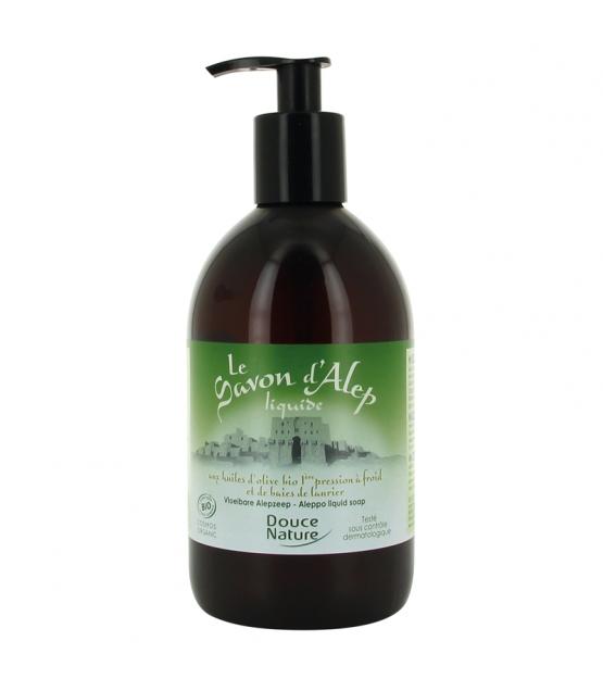 Savon d'Alep liquide BIO olive & baies de laurier - 500ml - Douce Nature