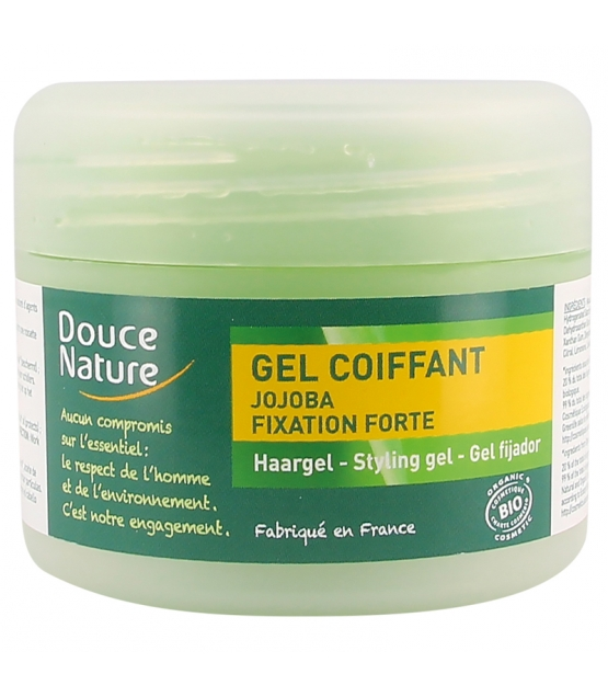 Gel coiffant fixation forte BIO jojoba - 100ml - Douce Nature