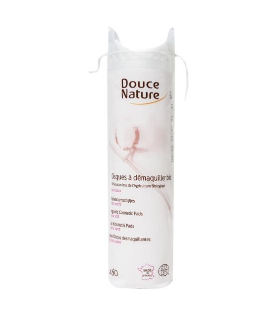 Soft Pads zum Abschminken und Reinigen aus BIO-Baumwolle - 80 Pads - Douce Nature