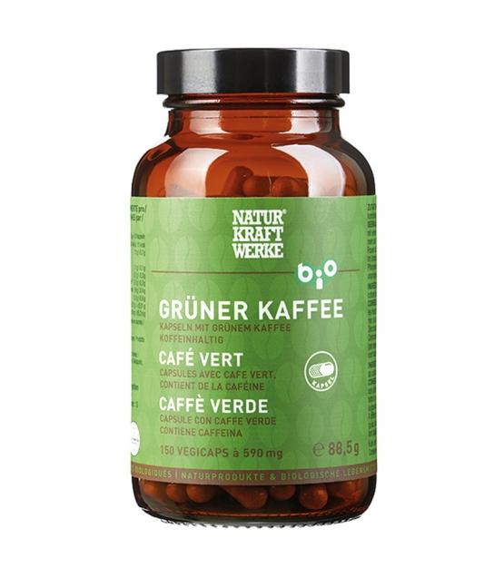 Café vert BIO - 150 capsules à 590mg - NaturKraftWerke