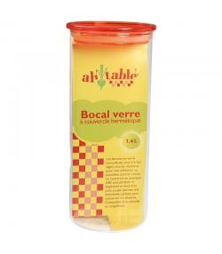 Bocal en verre 1,4l avec couvercle en plastique - 1 pièce - ah table !