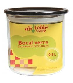 Bocal en verre 500ml avec couvercle en plastique - 1 pièce - ah table !