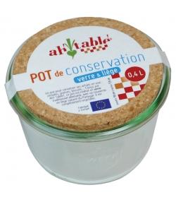 Pot de conservation en verre 400ml avec couvercle en liège - 1 pièce - ah table !