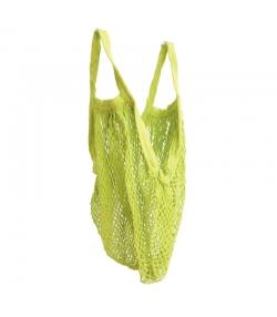 BIO-Baumwoll-Einkaufsnetz mit kurzen Henkeln, grün - 1 Stück - ah table !