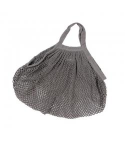 BIO-Baumwoll-Einkaufsnetz mit kurzen Henkeln, grau- 1 Stück - ah table !