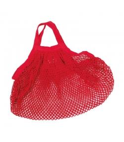 BIO-Baumwoll-Einkaufsnetz mit kurzen Henkeln, rot - 1 Stück - ah table !