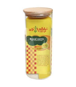 Glasbehälter 1,4l mit Holzdeckel - 1 Stück - ah table !