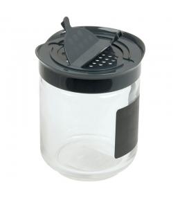 Grosser Gewürzbehälter aus Glas mit Schieferetikett 28cl - 1 Stück - ah table !