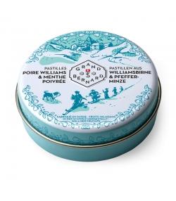Pastilles naturelles poire williams & menthe poivrée - 25 pastilles - Grand-St-Bernard