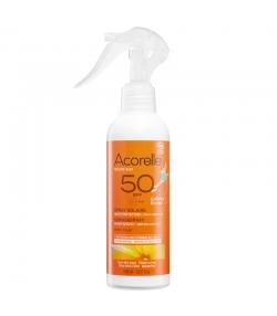 BIO-Sonnenschutzspray Kinder Gesicht & Körper LSF 50 Karanja & Himbeer - 150ml - Acorelle