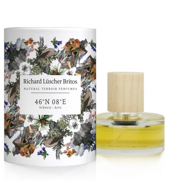 Eau de parfum BIO Terroir Perfumes 46°N 08°E - Suisse - Arolle - 50ml - Richard Lüscher Britos