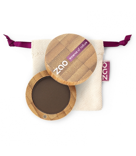 Fard à paupières mat BIO N°203 Brun foncé - 3g - Zao Make-up