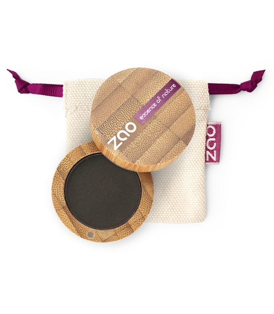 BIO-Lidschatten matt N°206 Schwarz - 3g - Zao Make-up