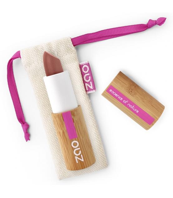 Rouge à lèvres nacré BIO N°404 Brun rouge – 3,5g – Zao Make-up