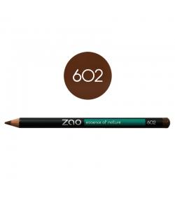 Crayon yeux, lèvres & sourcils BIO N°602 Brun foncé – 1,17g – Zao Make-up