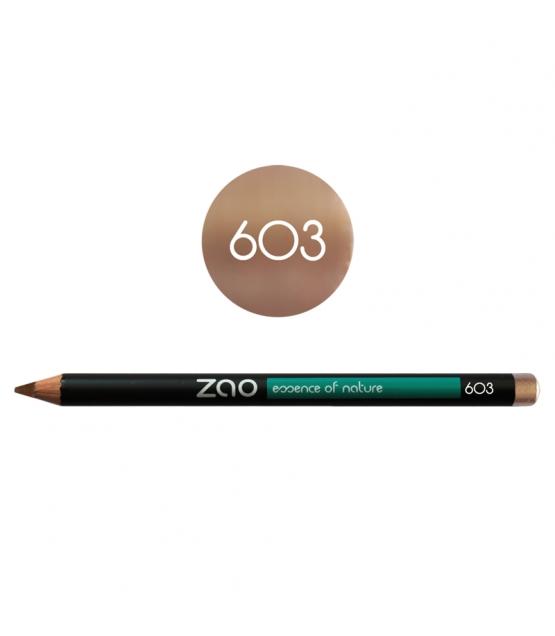 BIO-Augenstift, BIO-Lippenstift & BIO-Augenbrauenstift N°603 Beige – 1,17g – Zao Make-up