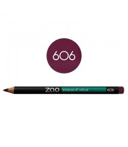 Crayon yeux, lèvres & sourcils BIO N°606 Prune – 1,17g – Zao Make-up