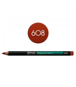 BIO-Augenstift, BIO-Lippenstift & BIO-Augenbrauenstift N°608 Orange Braun – 1,17g – Zao Make-up