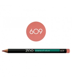 Crayon yeux, lèvres & sourcils BIO N°609 Vieux rose – 1,17g – Zao Make-up