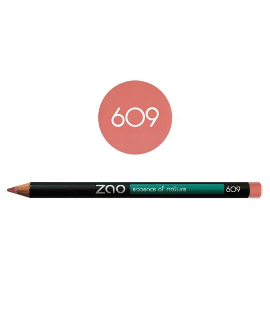 BIO-Augenstift, BIO-Lippenstift & BIO-Augenbrauenstift N°609 Altrosa – 1,17g – Zao Make-up