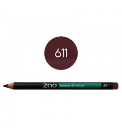Crayon yeux, lèvres & sourcils BIO N°611 Pourpre – 1,17g – Zao Make-up