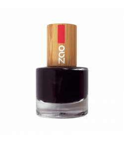 Vernis à ongles brillant N°644 Noir – 8ml – Zao Make-up