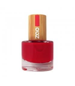Vernis à ongles brillant N°650 Rouge carmin – 8ml – Zao Make-up