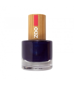 Vernis à ongles brillant N°653 Bleu nuit – 8ml – Zao Make-up