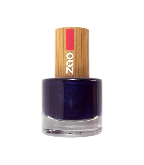 Nagellack glänzend N°653 Nachtblau - 8ml - Zao Make-up