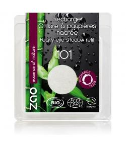 Recharge Fard à paupières nacré BIO N°101 Blanc – 3g – Zao Make-up