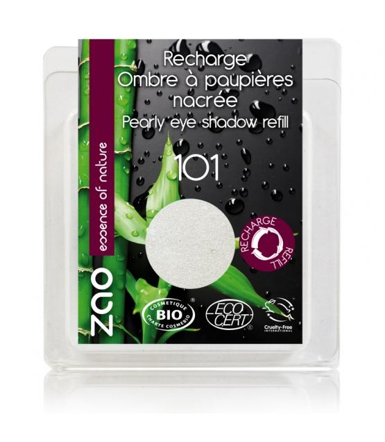 Recharge Fard à paupières nacré BIO N°101 Blanc - 3g - Zao Make-up
