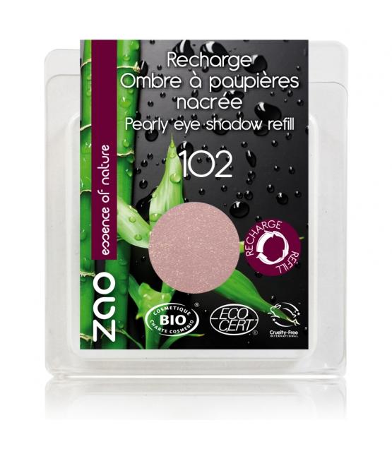 Nachfüller BIO-Lidschatten perlmutt N°102 Rosa Beige - 3g - Zao Make-up