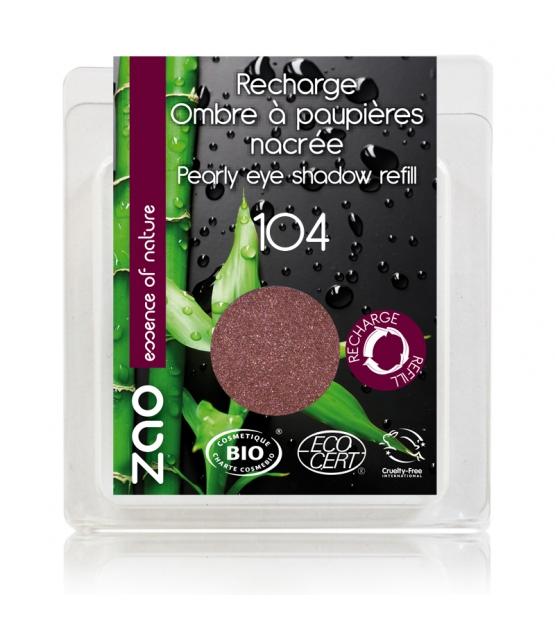 Recharge Fard à paupières nacré BIO N°104 Grenat - 3g - Zao Make-up